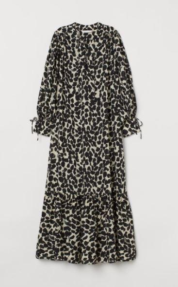 H&M sukienka z lyocellu