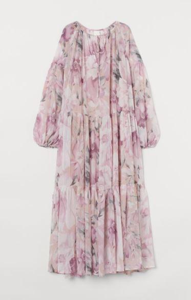 H&M szyfonowa sukienka