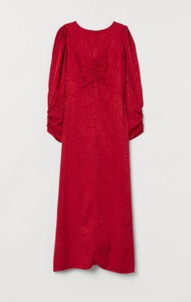 H&M sukienka z żakardowej tkaniny