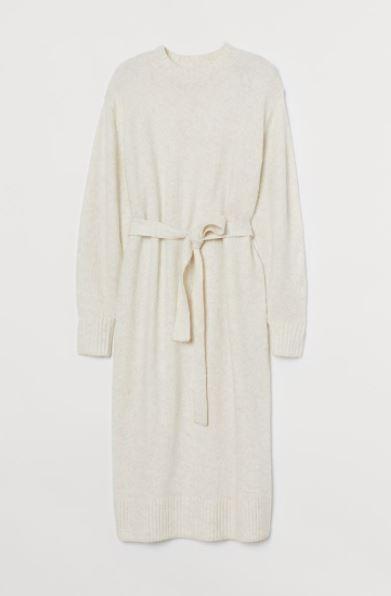 H&M dzianinowa sukienka