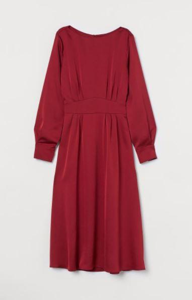 H&M satynowa sukienka