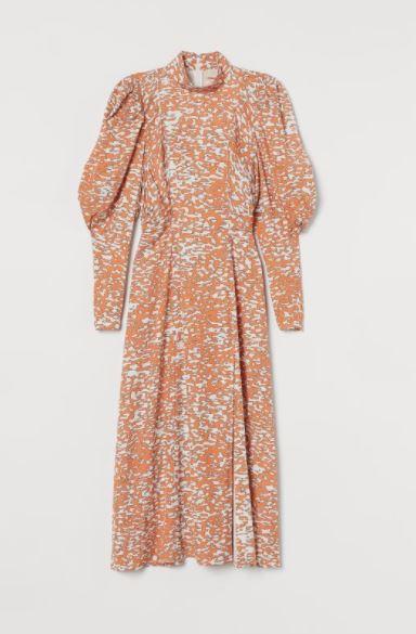 H&M sukienka z bufiastym rękawem